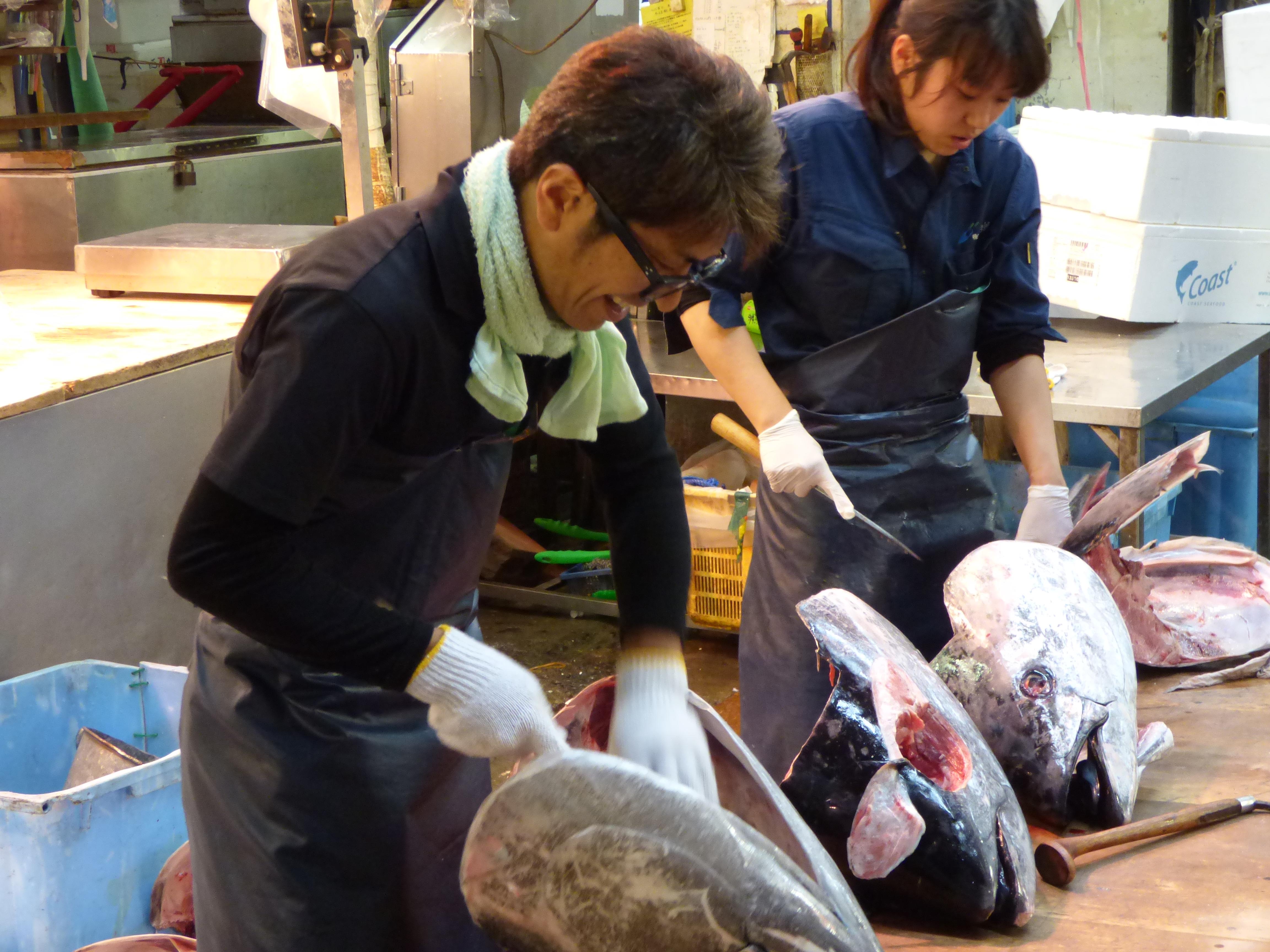 découpage thon marché de tsukiji