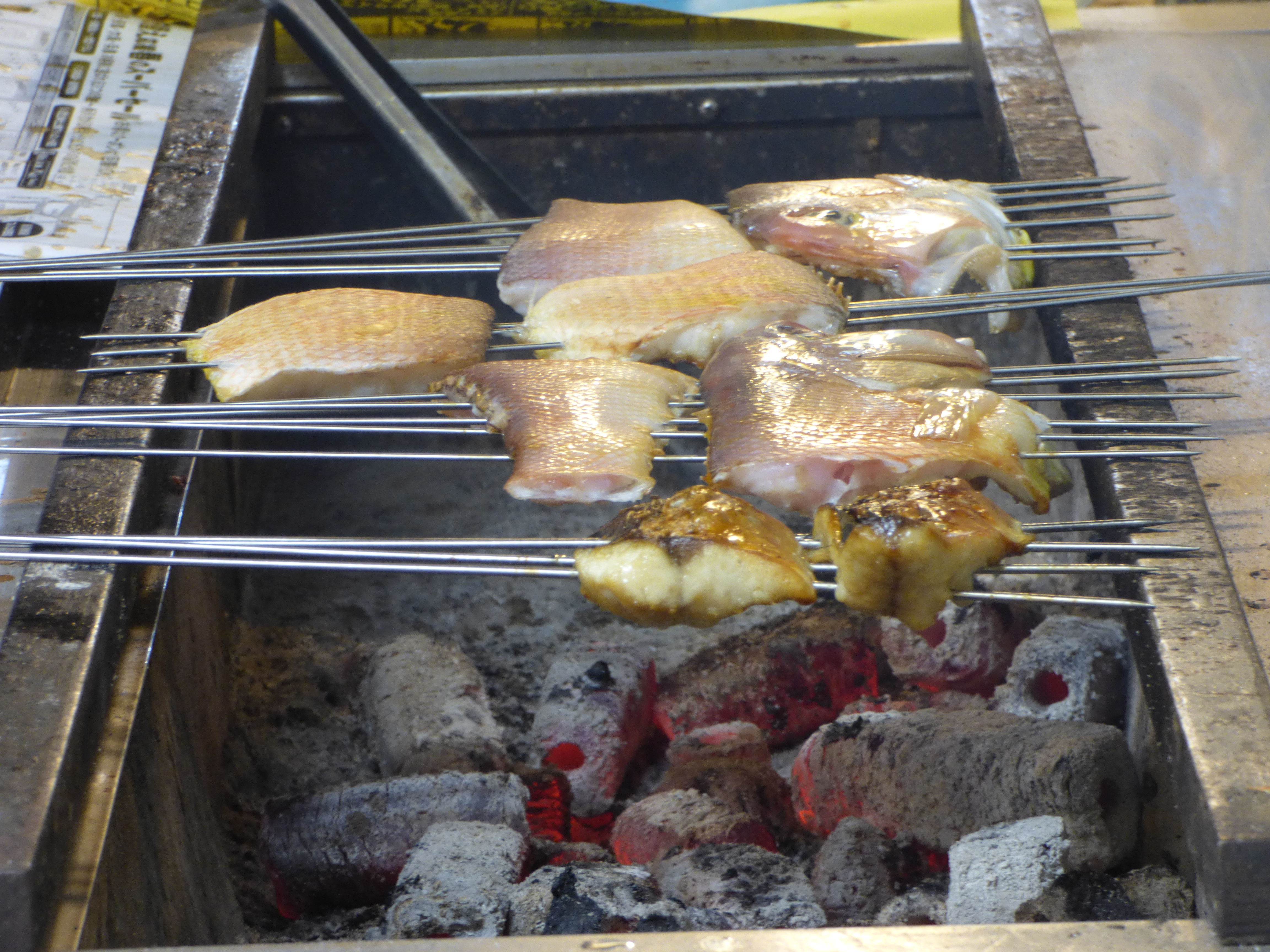 poisson grillé nishiki market