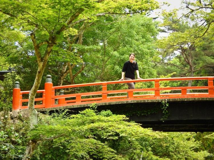 Pont rouge et moi Ile de Miyajima
