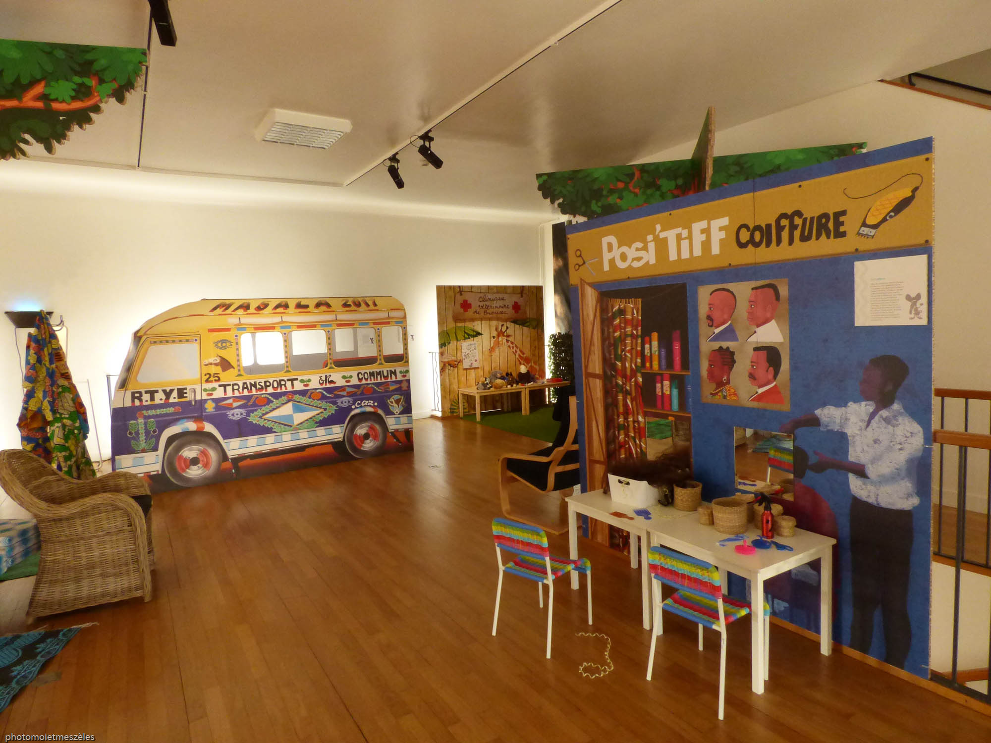 Salle parcours jeunesse ville africaine fictive musée d'histoire naturelle le Havre
