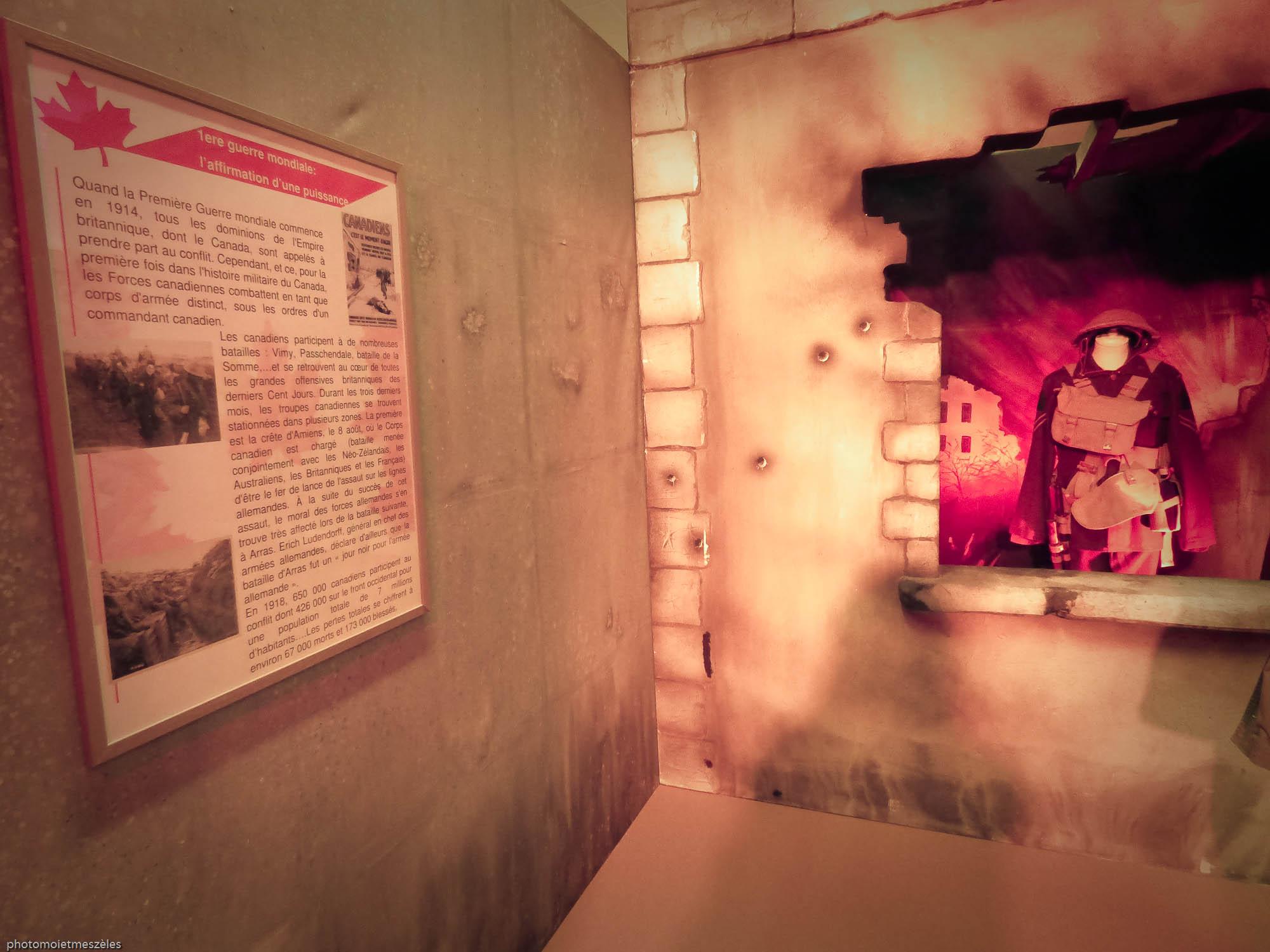 1ère Guerre mondiale histoire Canada Exposition expérience canada le Havre