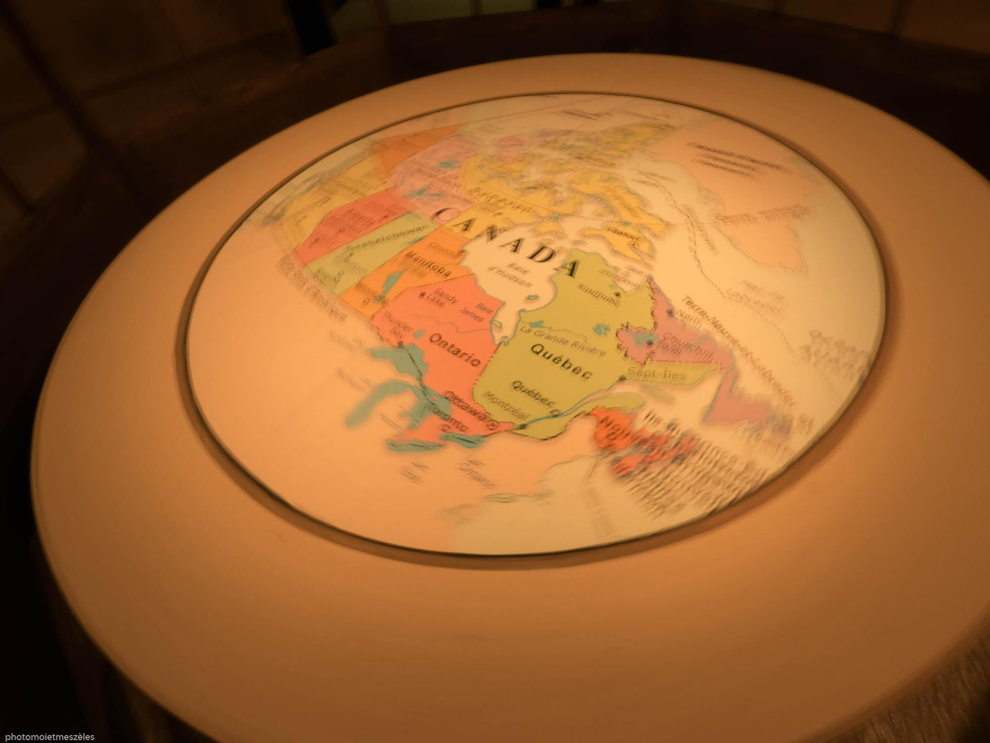 Canada Map exposition expérience canada Le Havre