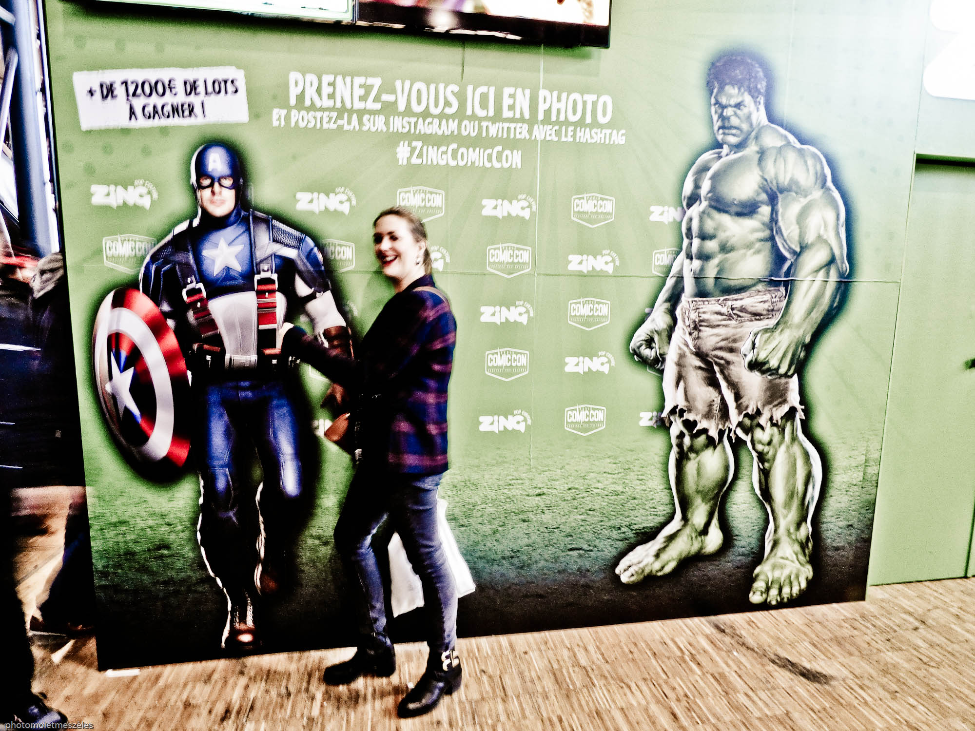 Comic con paris 2017 Hulk Captain américa et lois