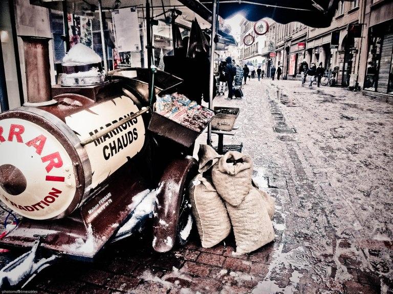 Chaud les marrons sous la neige Strasbourg