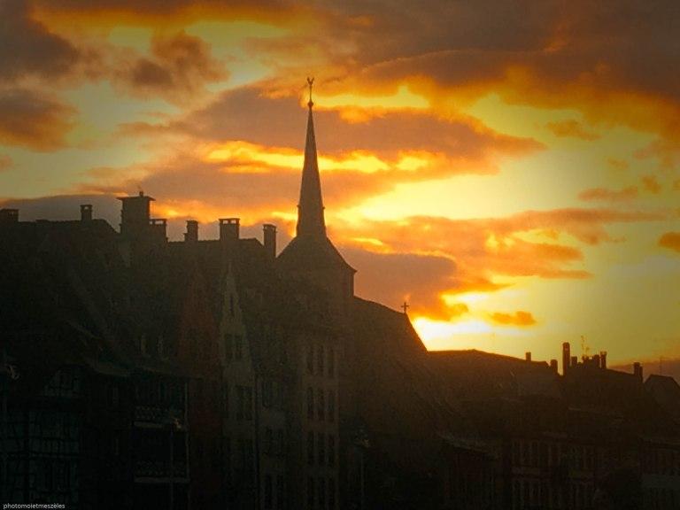 couché de Soleil sur Strasbourg