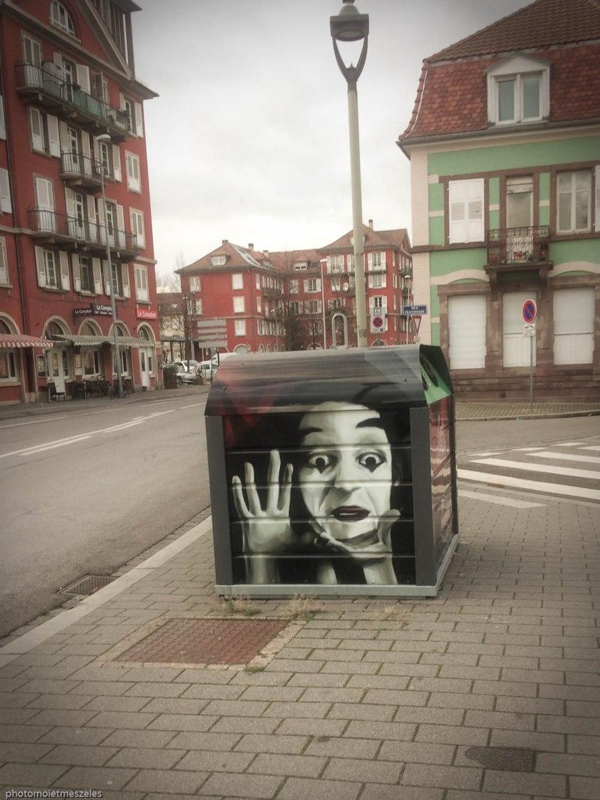 création urbaine sur conteneur verre strasbourg