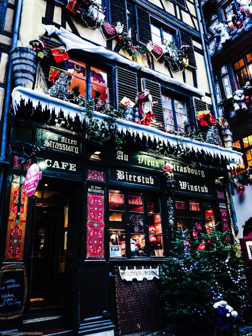 Facade du Restaurant Au vieux Strasbourg