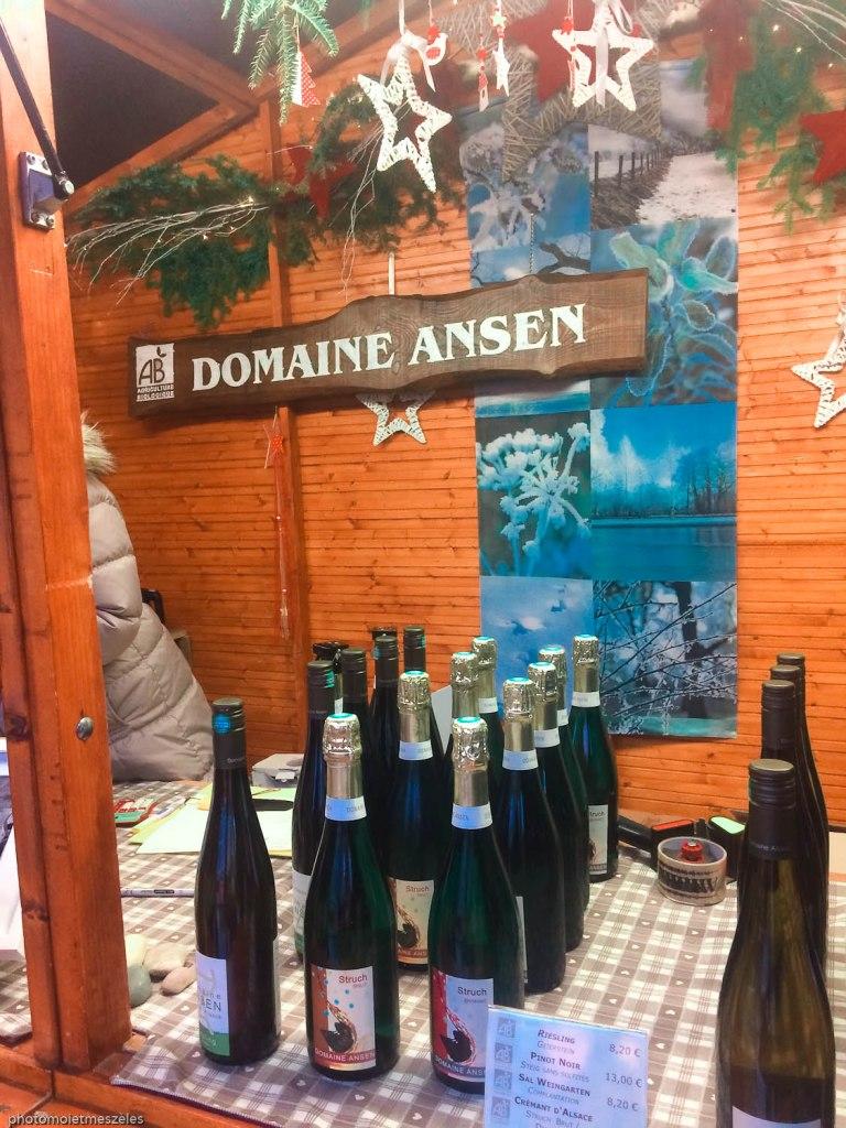 Vins alsaciens marché de Noel de Strasbourg