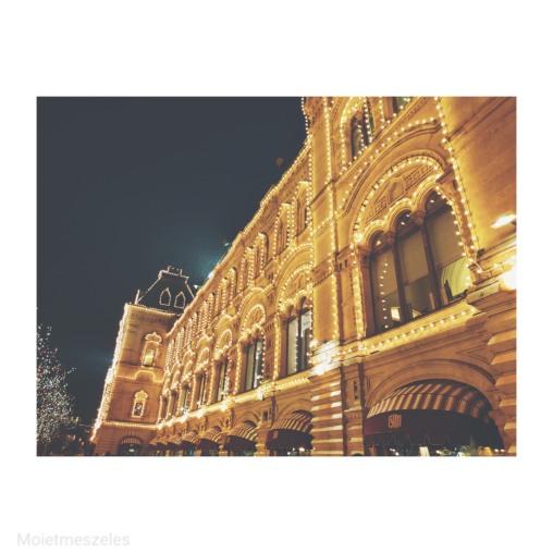 GUM de nuit Moscou