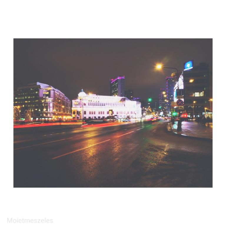 Quartier d'Arbat de nuit Moscou