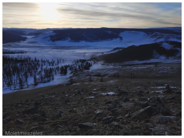 coucher de soleil mongolie arkhangai