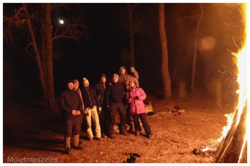 feu fête réveillon noel mongolie hiver