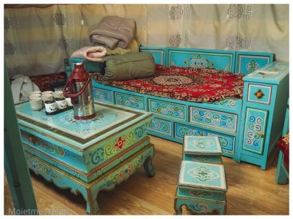 intérieur décoration yourte wind of mongolia mongolie hiver