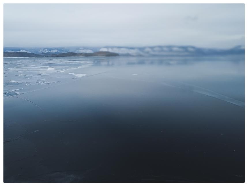 Lac Baikal gelé île d'Olkhon Sibérie