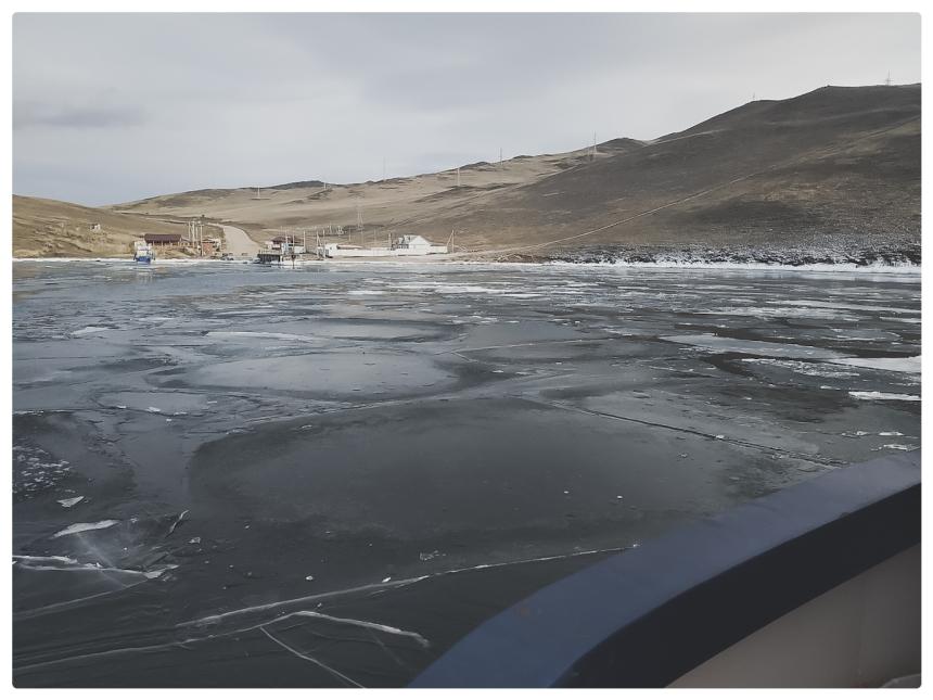 traversée en Bac lac Baikal île Olkhon 2