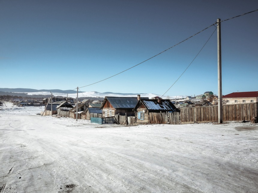 Village Khoujir île d'Olkhon Sibérie